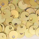 Large Hole SEQUIN PAILLETTE~ GOLD LAZERSHEEN Reflective Iris ~ 20mm~ Made in USA