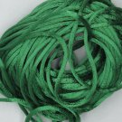 Green Satin Rattail Cord Made in the USA 10 yard pack