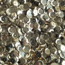 8mm Cup Round Sequins Light Champagne Gold Shiny Metallic. Made in USA
