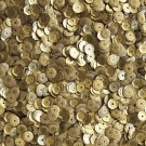 6mm Cup Round Sequins Gold Matte Silk Frost. Made in USA