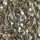 5mm Cup Round Sequins Light Champagne Gold Shiny Metallic. Made in USA