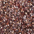 4mm Cup Round Sequins Copper Shiny Metallic. Made in USA