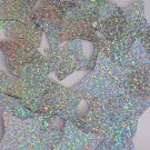 "Star 4 Point Sequin 1.5"" Silver Hologram Glitter Sparkle Metallic Paillettes"