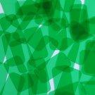 "Sequin 1.5"" x .75"" Shape Rectangle Vinyl Go Go Trans Green. Made in USA"