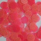 Round Sequin 15mm Candy Pink Neon Fluorescent Sparkle Glitter Texture Paillettes