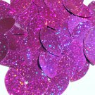 Purple Glitter Sparkle Navette Leaf Sequins 1.5 inch Metallic Couture Paillettes