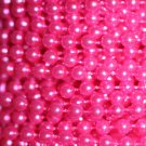 Hot Pink Pearl Beads 4mm Molded on Thread Fused to string 120 inches (10')