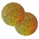 "Sequin Round 6"" / 150mm Gold Hologram Glitter Sparkle Metallic. Made in USA"
