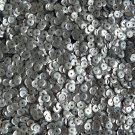 5mm Cup Round Sequins Hematite Gray Matte Silk Frost. Made in USA