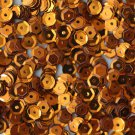 6mm Cup Round Sequins Orange Shiny Metallic. Made in USA