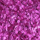 5mm Cup Round Sequins Fuchsia Pink Matte Silk Frost. Made in USA