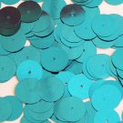 Round Sequin 15mm Deep Turquoise Metallic Couture Paillettes