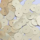 Round Sequin 15mm Pale Yellow Gold Metallic Couture Paillettes