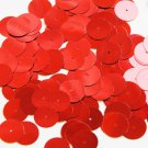Round Sequin 15mm Light Red Metallic Couture Paillettes