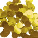 Round Sequin 15mm Medium Gold Metallic Couture Paillettes