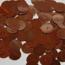 Round Sequin 15mm Dark Bronze Brown Metallic Couture Paillettes