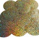 "Sequin Round 2.5"" Gold Hologram Glitter Sparkle Metallic. Made in USA"
