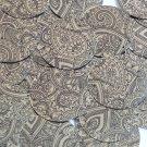 Sequin Round 30mm Mehndi Print Pattern Black Gold Metallic