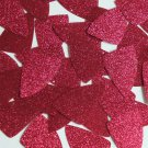 "Fishscale Fin Sequin 1.5"" Deep Red Pink Metallic Sparkle Glitter Tex Paillettes"