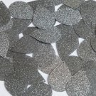 "Teardrop Sequin 1.5"" Platinum Gray Metallic Sparkle Glitter Texture Paillettes"