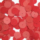 Round Sequin 15mm Red Metallic Sparkle Glitter Texture Couture Paillettes