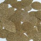 "Teardrop Sequin 1.5"" Light Gold Metallic Sparkle Glitter Texture Paillettes"