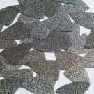 "Fishscale Fin Sequin 1.5"" Platinum Gray Metallic Sparkle Glitter Tex Paillettes"