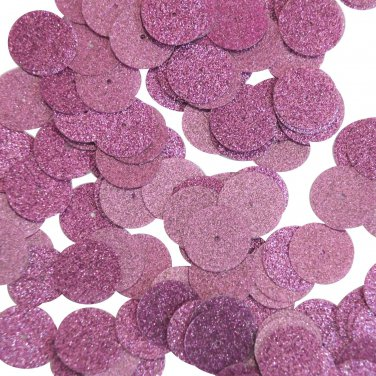 Round Sequin 15mm Pink Metallic Sparkle Glitter Texture Couture Paillettes