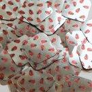"Square Diamond Sequin 1.5"" Ladybug Ladybird Print on Silver Metallic Paillettes"