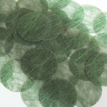 Round Sequin 40mm Deep Green Silky Fiber Strand Fabric Couture Paillettes
