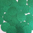 Round Sequin 40mm Green Metallic Sparkle Glitter Texture Couture Paillettes