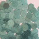 Round Sequin 15mm Turquoise Blue Metallic Sparkle Glitter Texture Paillettes