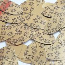 "Oval Sequin 1.5"" Tree Frog Print on Gold Metallic Couture Paillettes"