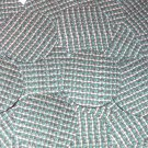 Round Sequin 30mm Green Silver Rocaille Seed Bead Print Metallic Paillettes