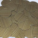 """Round Sequin 1.5"""" Yellow Silver Rocaille Seed Bead Print Metallic Paillettes"""