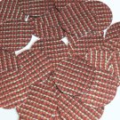 "Round Sequin 1.5"" Red Silver Rocaille Seed Bead Print Metallic Couture Paillette"