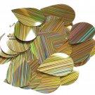 "Gold City Lights Reflective Sequins Teardrop 1.5"" Large Couture Paillettes"