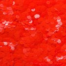 6mm Flat Loose Sequin Paillette Fluorescent Fire Orange See Thru Transparent