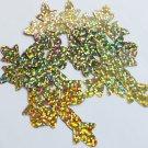 "Sequin Fleurie Cross 2"" Gold Hologram Glitter Sparkle Metallic. Made in USA"