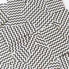 "Sequin Rectangle 1.5"" Black White Chevron Print Opaque"