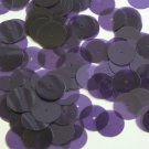 Round Sequin 15mm Purple Transparent Glossy Matte Duo Two Sided Paillettes