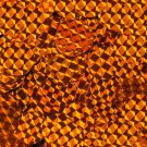 20mm Flat Round Sequin Paillettes Orange Prism Metallic. Made in USA