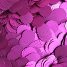 20mm Flat Round Sequin Paillettes Fuchsia Pink Matte Silk Frost. Made in USA