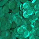 20mm Cup Round Sequins Green Matte Silk Frost. Made in USA