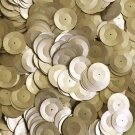 20mm Cup Round Sequins Gold Matte Silk Frost. Made in USA