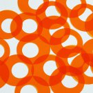"Circle Loop Vinyl Shape 1.5"" Orange Go Go Transparent"