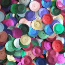 20mm Cup Round Sequins MultiColor Mix Matte Silk Frost. Made in USA