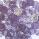 Round Sequin 15mm Purple Silky Fiber Strand Fabric Couture Paillettes