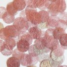 Round Sequin 15mm Pink Silky Fiber Strand Fabric Couture Paillettes