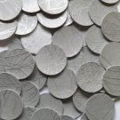 24mm Vinyl Disc Italian Silver Vein No Hole Round Circle